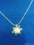 Harga Termurah Accessory Korean Necklace Flower Green