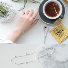 Adalah Baik Sederhana Perak 925 Murni Perak Kecil Gelang