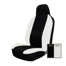 Adepe sarung jok mobil Honda Brio ( Black - White )