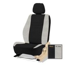 Adepe sarung jok sporty mobil Datsun GO + ( black - vl. Grey  )