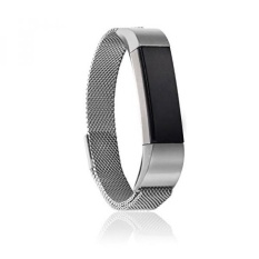 Adjustable 316L Stainless Steel Milanese Magnetic Loop Watchband Replacement Accessory Bracelet Strap fit for Fitbit Alta HR Band Tracker (Silver) - intl