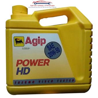 Agip Power HD 20W 50 Oli Mobil Mesin Bensin 4 Liter