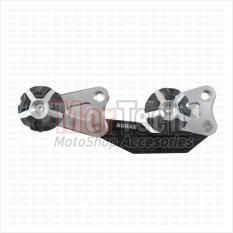 Agras Pelindung Knalpot Muffle Guard Frame Exhaust Slider Yamaha Nmax - N Max Cnc Silver By Mortech