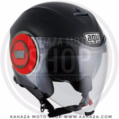 AGV Fluid ~ Matt Black Red - Asian Fit/SNI