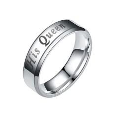 Ai Rumah Nya Raja Nya Ratu Titanium Anti Karat Pasangan Cincin Jari Miliknya dan Miliknya Janji Pernikahan Cincin Valentine 'S Day Hadiah-Internasional