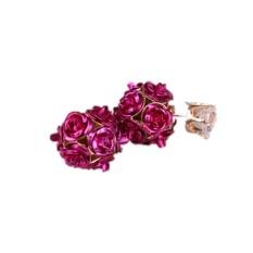Ai Home Wanita Putri Elegan Rose Bunga Crystal Rhinestone Stud Earring Perhiasan (Rose)-Intl