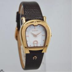 Diskon Aigner A24259B Empoli Jam Tangan Wanita Leather Dark Brown Rose Gold