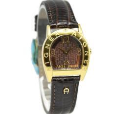 Spesifikasi Aigner Asti Due Jam Tangan Wanita Gold Coklat Strap Coklat Tua A32278B Yang Bagus