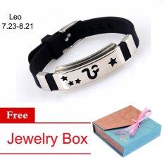 Kekasih 925 Perak Disepuh Gelang Tangan 12 Konstelasi Bracelet Gelang Wanita Pria,Leo