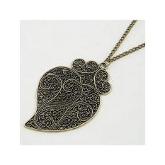 Aksesoris Kalung Hollow Heart - RKL1756
