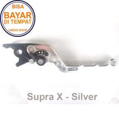 Aksesoris Motor Supra X - Handle REM Variasi Motor FULL CNC Supra X - Silver