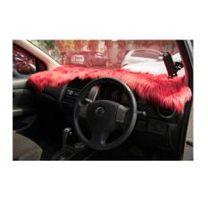Jual Alas Bulu Dashboard Mobil Merah Bulu Panjang Jason Ori