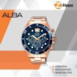 Diskon Alba Active Chronograph Jam Tangan Pria Tali Stainless Steel At3904X1 Branded