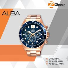 Alba Active Chronograph Jam Tangan Pria - Tali Stainless Steel - AT3904X1