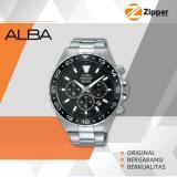 Jual Cepat Alba Active Chronograph Jam Tangan Pria Tali Stainless Steel At3907X1