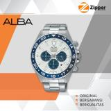 Jual Alba Active Chronograph Jam Tangan Pria Tali Stainless Steel At3909X1 Branded Original