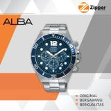 Review Terbaik Alba Active Chronograph Jam Tangan Pria Tali Stainless Steel At3911X1