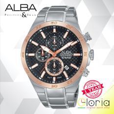 Beli Alba Am3298X1 Active Chronograph Jam Tangan Tali Stainless Steel Silver Di Indonesia