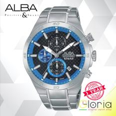 Jual Alba Active Chronograph Jam Tangan Tali Stainless Steel Silver Am3301X1 Alba Di Jawa Timur