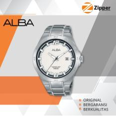 Promo Alba Active Analog Jam Tangan Pria Tali Stainless Steel As9C03X1 Alba Terbaru