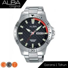 Jual Alba Analog Jam Tangan Pria Strap Stainless Steel Black At2039X1 Alba Ori