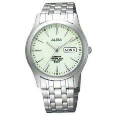 Alba AXND57X1 - Jam Tangan Pria - Tali Logam - Analog Quartz - White Silver