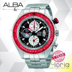 Dimana Beli Alba Chronograph Limited Edition Jam Tangan Pria Tali Logam Af3F17X1 Black Red Alba
