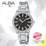 Harga Alba Ag8H05X1 Jam Tangan Wanita Fashion Tali Stainless Steel Silver Murah