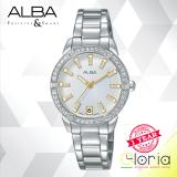 Promo Alba Fashion Ag8H07X1 Jam Tangan Wanita Tali Stainless Steel Silver Alba Terbaru