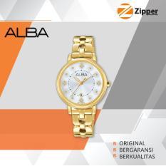 Beli Alba Fashion Analog Jam Tangan Wanita Tali Stainless Steel Ah7L54X1 Cicil