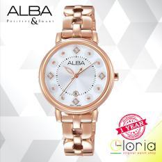 Diskon Alba Fashion Jam Tangan Wanita Tali Stainless Steel Rose Gold Ah7L52X1