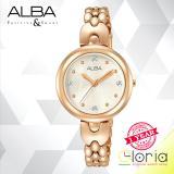 Review Toko Alba Ah8328X1 Jam Tangan Wanita Fashion Tali Stainless Steel Rosegold Online
