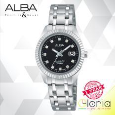 Jual Alba Fashion Jam Tangan Wanita Tali Stainless Steel Silver Ah7G07X1 Alba Branded
