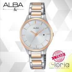 Beli Alba Fashion Jam Tangan Wanita Tali Stainless Steel Silver Rosegold Ah7L10X1 Murah