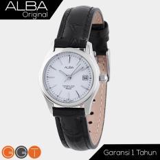Alba Fasion White Dial With Leather Strap - Jam Tangan Wanita - AXU035X1