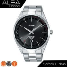 ALBA Jam Tanga Pria - Stainless Steel Strap - Quartz Movement - BlackDial - AS9D33X1