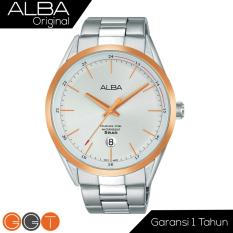ALBA Jam Tanga Pria - Stainless Steel Strap - Quartz Movement - Silver Dial - AS9D30X1