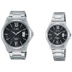 Alba - Jam Tangan Berpasangan - Couple - Silver - Stainless Steel - AS9959 & AH7F41