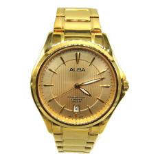 Alba - Jam Tangan Pria - Gold-Emas - Stainless Steel - AS9946X1