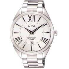Alba - Jam Tangan Pria - Silver-Putih - Stainless Steel - AS9A71X1
