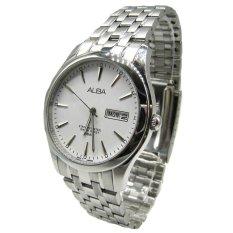 Alba - Jam Tangan Pria - Silver-Putih - Stainless Steel - AXND53X1