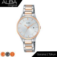 Alba - Jam Tangan Wanita Analog - Starp Stainless Stell - AH7L10x1 - Gold Silver