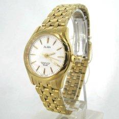 Alba - Jam Tangan Wanita - Gold-Putih - Stainless Steel - ARSY24X1