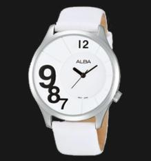 Alba Ladies AH8187X1 Jam Tangan Wanita AH8187 White Leather Strap Ori