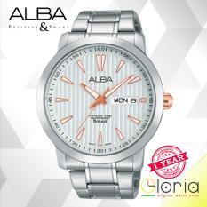 Harga Termurah Alba Prestige Jam Tangan Pria Tali Stainless Steel Silver At2013X1