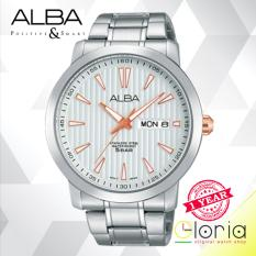 Beli Alba Prestige Jam Tangan Pria Tali Stainless Steel Silver At2013X1 Online Terpercaya