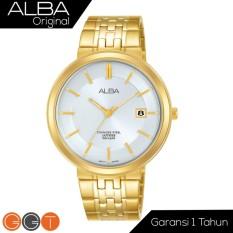 Alba Jam Tangan Pria Alba Prestige Man Gold - White Dial Sapphire Crystal Stainless Steel AS9D72X1