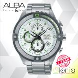 Review Terbaik Alba Signa Chronograph Jam Tangan Strap Stainless Steel Silver Am3327X1