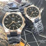 Jual Beli Online Alexande Christie Jam Tangan Couple Stainless Steel Ac 8506 Black Gold Couple