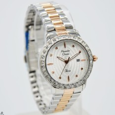 Alexandre Christie 100% Original AC2688L Jam Tangan Wanita Stainless Steel  silver kombinasi rose 8ab2ef51b2
